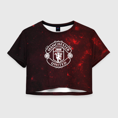 Женская футболка Crop-top 3D Manchester United