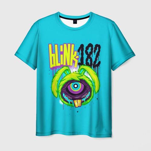 Мужская футболка 3D Заяц монстр Blink-182