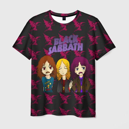 Мужская футболка 3D Группа Black Sabbath
