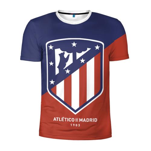 Мужская футболка 3D спортивная Атлетико Мадрид
