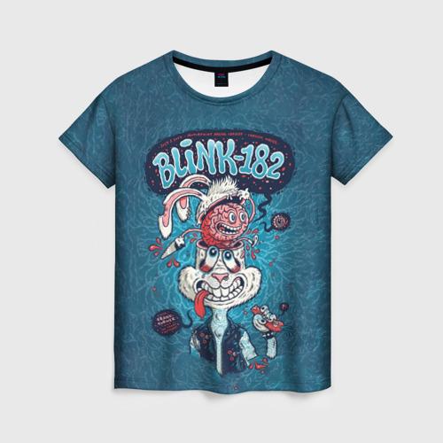 Женская футболка 3D Заяц Blink-182