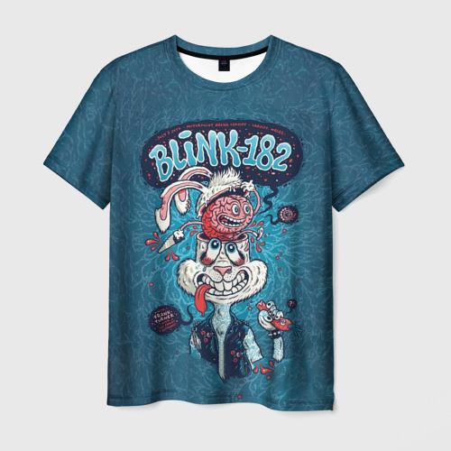 Мужская футболка 3D Заяц Blink-182