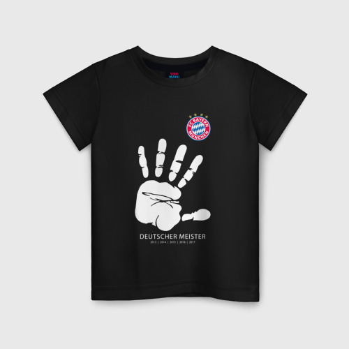 Детская футболка хлопок Bayern Munchen - Deutcher Meister (2018 NEW)