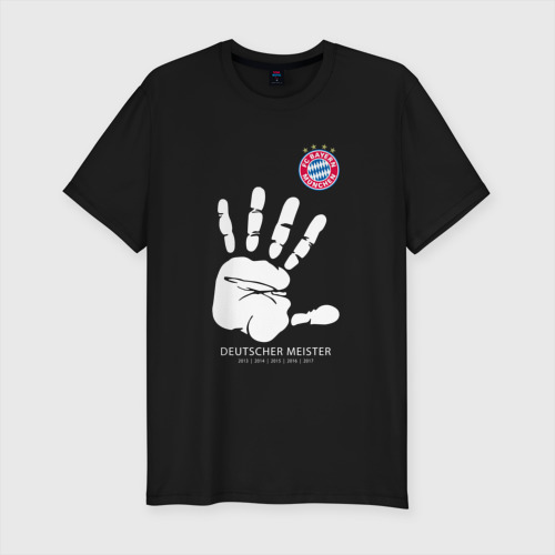 Мужская футболка хлопок Slim Bayern Munchen - Deutcher Meister (2018 NEW)