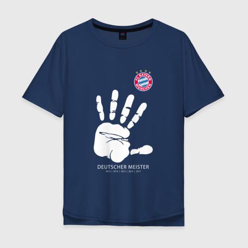Мужская футболка хлопок Oversize Bayern Munchen - Deutcher Meister (2018 NEW)