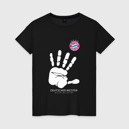 Женская футболка хлопок Bayern Munchen - Deutcher Meister (2018 NEW)