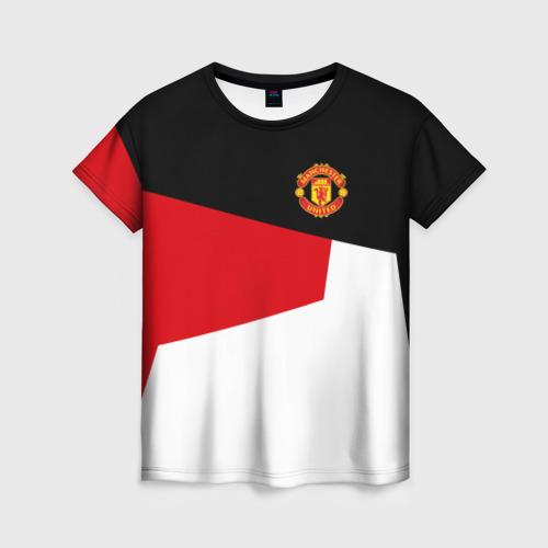 Женская футболка 3D Manchester United 2018 12