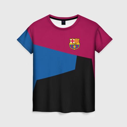 Женская футболка 3D FC Barcelona 2018 5