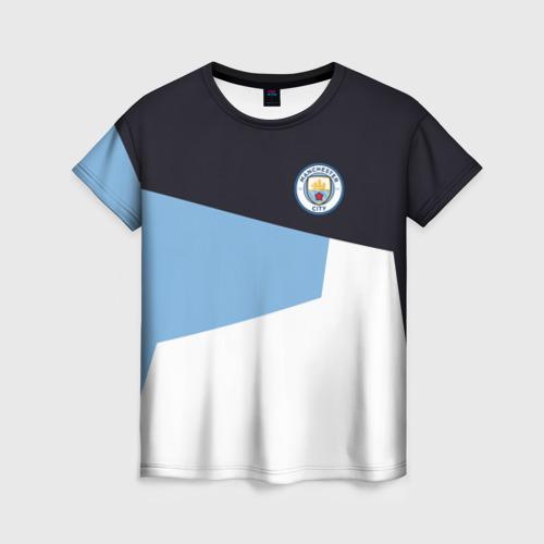 Женская футболка 3D Manchester city 2018 4