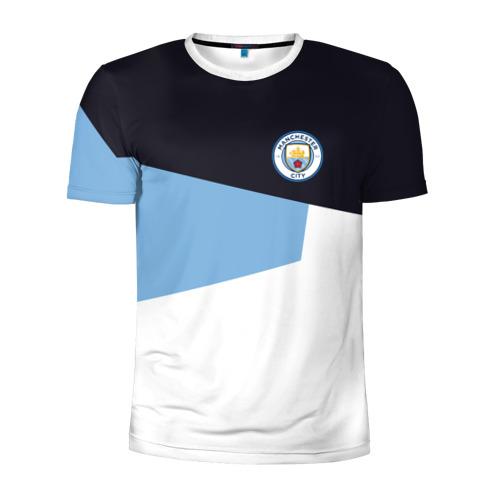 Мужская футболка 3D спортивная Manchester city 2018 4