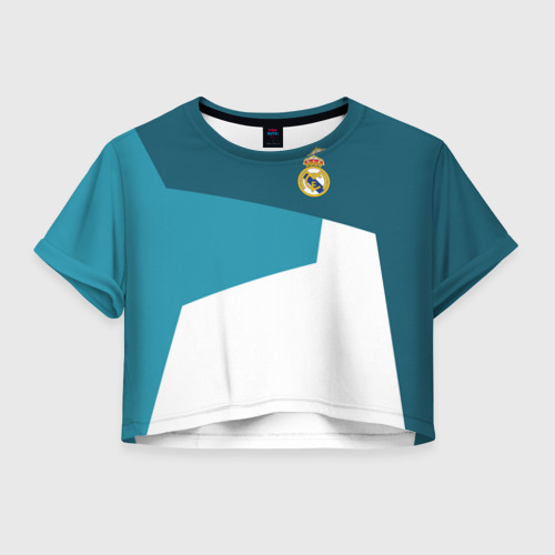 Женская футболка Crop-top 3D Real Madrid 2018 5