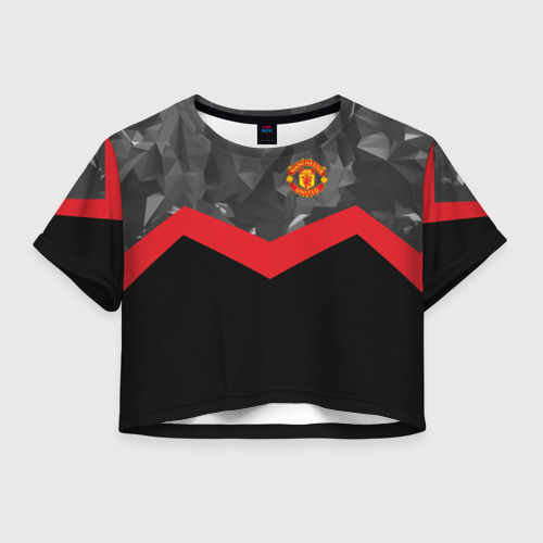 Женская футболка Crop-top 3D Manchester United 2018 14