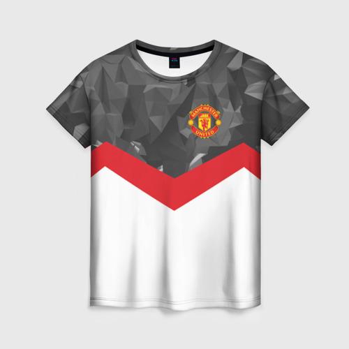 Женская футболка 3D Manchester United 2018 16