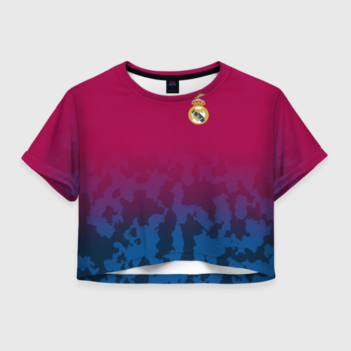 Женская футболка Crop-top 3D Real Madrid 2018 Military 2
