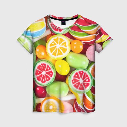 Женская футболка 3D Candy
