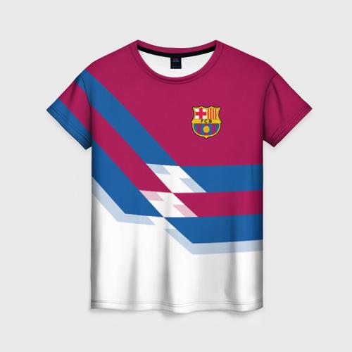 Женская футболка 3D FC Barcelona 4