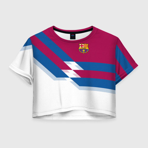 Женская футболка Crop-top 3D FC Barcelona 4