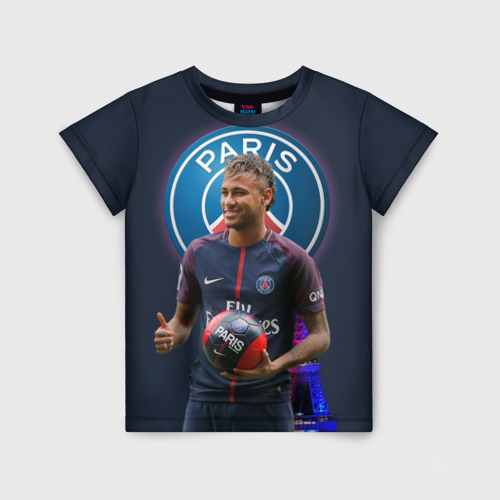 Детская футболка 3D Neymar PSG