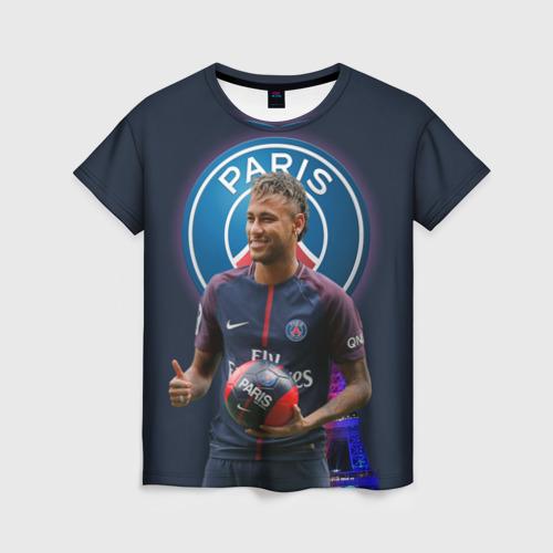 Женская футболка 3D Neymar PSG