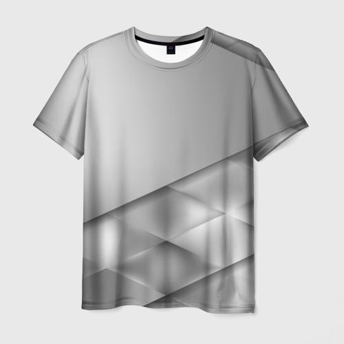 Мужская футболка 3D Grey rhombuses