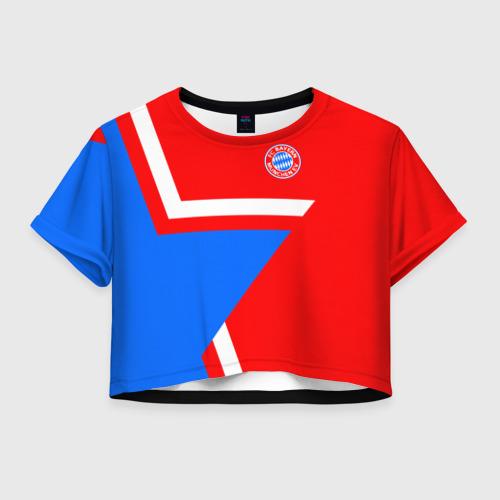 Женская футболка Crop-top 3D ФК Бавария 2018 Звезда