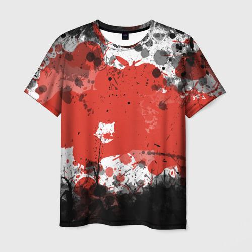 Мужская футболка 3D Брызги и пятна