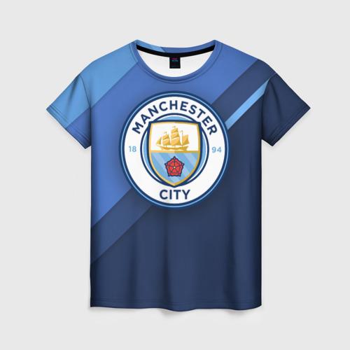 Женская футболка 3D Манчестер Сити