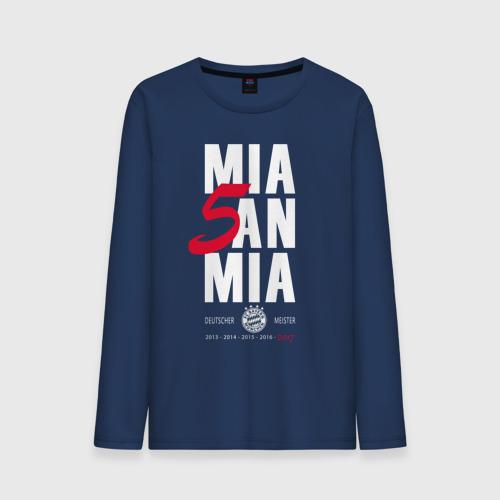 Мужской лонгслив хлопок Bayern Munchen - Mia San Mia