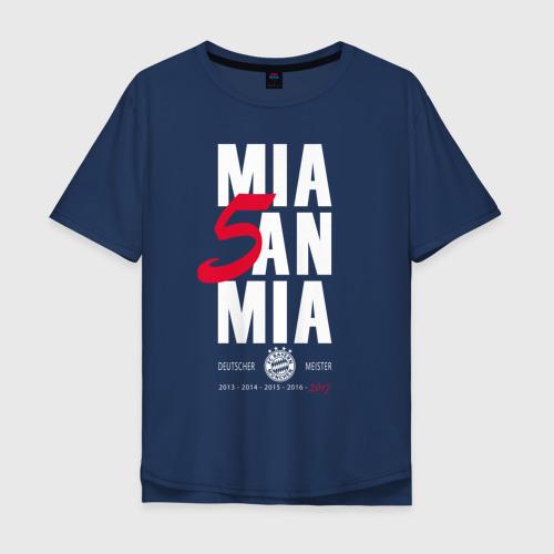Мужская футболка хлопок Oversize Bayern Munchen - Mia San Mia