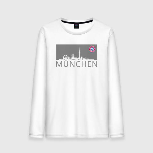 Мужской лонгслив хлопок Bayern Munchen - Munchen City grey (2018)