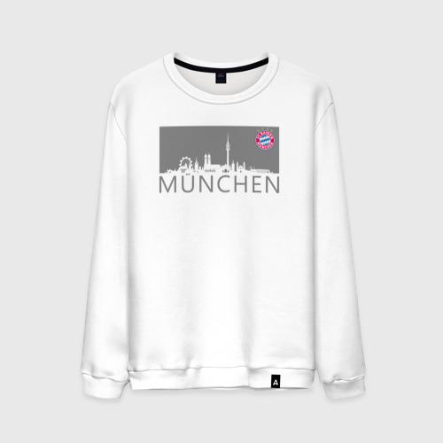 Мужской свитшот хлопок Bayern Munchen - Munchen City grey (2018)