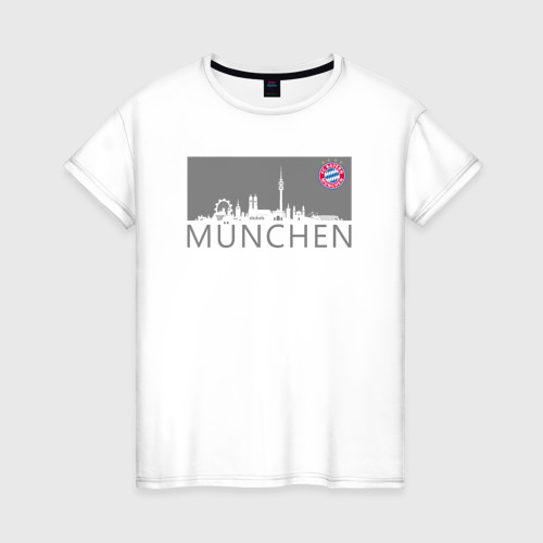 Женская футболка хлопок Bayern Munchen - Munchen City grey (2018)