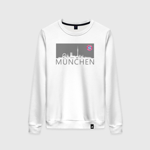 Женский свитшот хлопок Bayern Munchen - Munchen City grey (2018)
