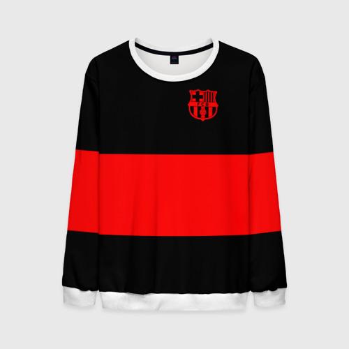 Мужской свитшот 3D FC Barcelona Black Collection