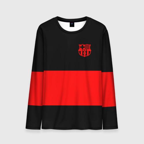 Мужской лонгслив 3D FC Barcelona Black Collection