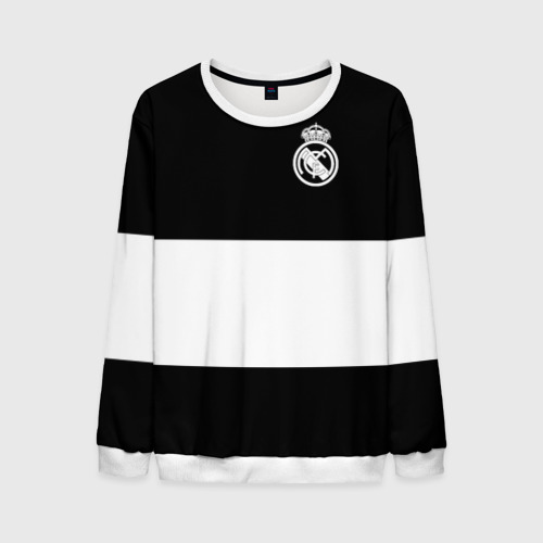Мужской свитшот 3D Real Madrid Black Collection