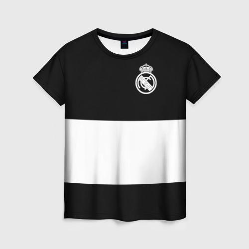Женская футболка 3D Real Madrid Black Collection