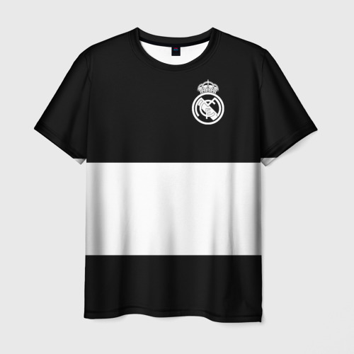 Мужская футболка 3D Real Madrid Black Collection