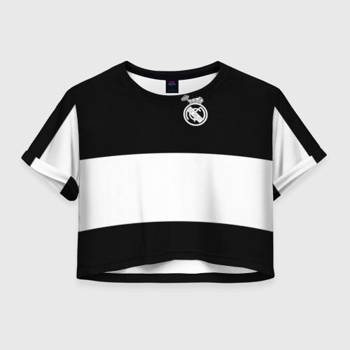 Женская футболка Crop-top 3D Real Madrid Black Collection
