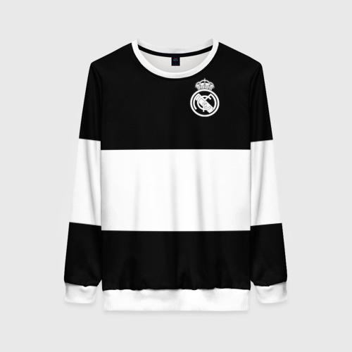 Женский свитшот 3D Real Madrid Black Collection