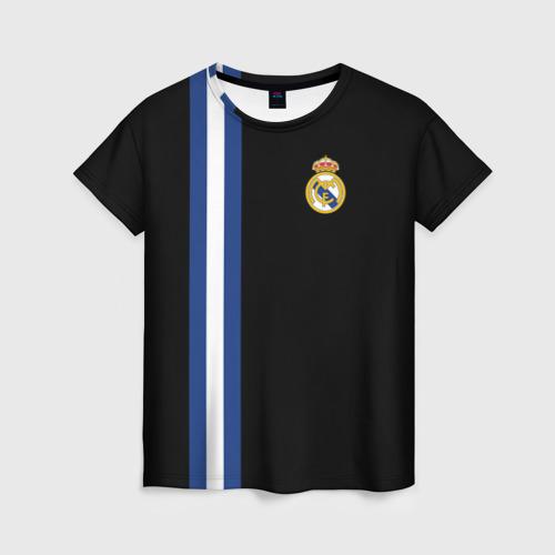 Женская футболка 3D Real Madrid Line Collection