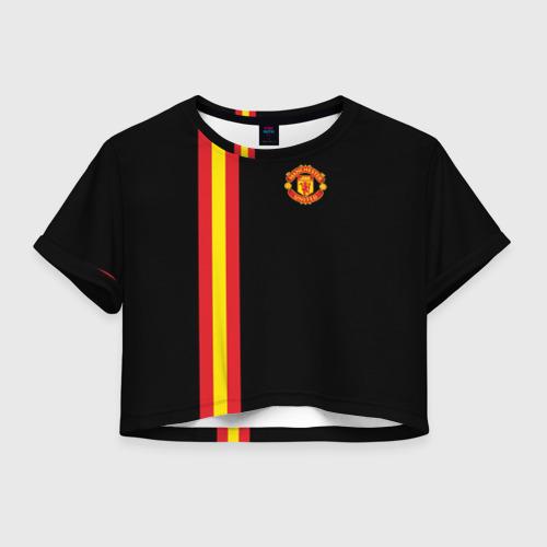 Женская футболка Crop-top 3D Manchester Line Collection