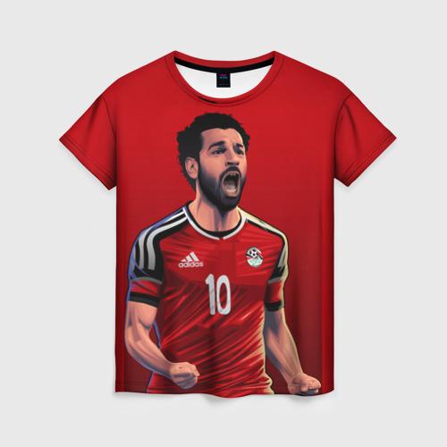 Женская футболка 3D Мохамед Салах