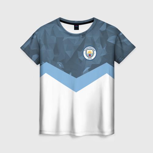Женская футболка 3D Manchester city 2018 Sport