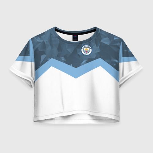 Женская футболка Crop-top 3D Manchester city 2018 Sport
