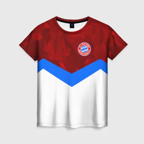 Женская футболка 3D ФК Бавария 2018
