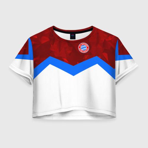Женская футболка Crop-top 3D ФК Бавария 2018