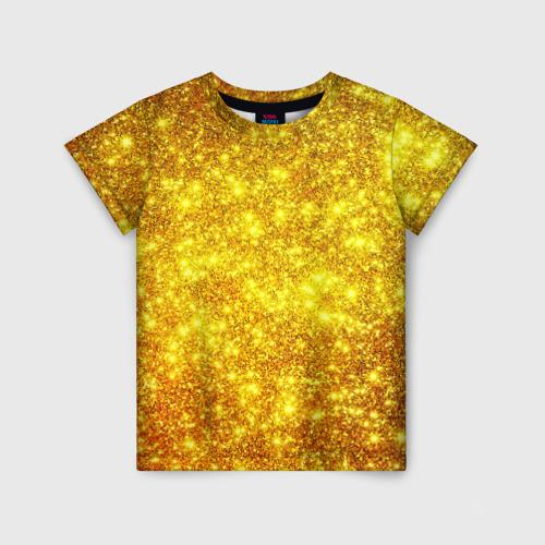 Детская футболка 3D Золотой блеск