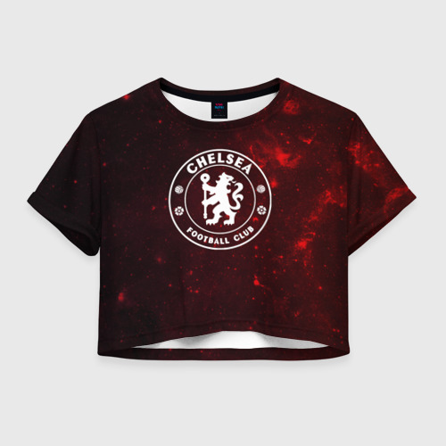 Женская футболка Crop-top 3D Челси