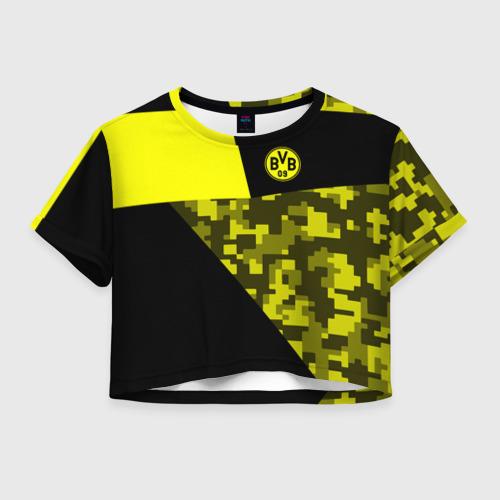 Женская футболка Crop-top 3D Borussia Dortmund 2018 Sport
